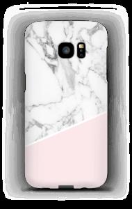 Lichtroze & wit marmer hoesje Galaxy S7 Edge