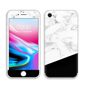 Zwart en Wit marmer Skin IPhone 8