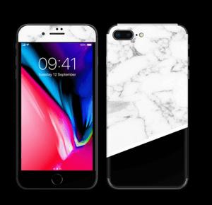 Skin marbre & noir Skin IPhone 8 Plus