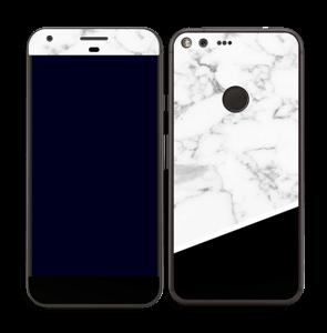 Skin marbre & noir Skin Pixel XL