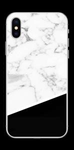 Zwart en Wit marmer Skin IPhone XS