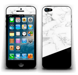 Zwart en Wit marmer Skin IPhone 5