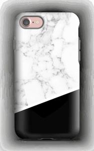 Zwart en Wit Marmer hoesje IPhone 7 tough