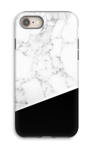 Zwart en Wit Marmer hoesje IPhone 8 tough