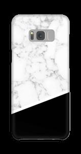 Zwart en Wit Marmer hoesje Galaxy S8 Plus