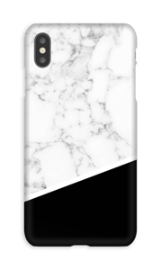 Mármol Blanco y Negro funda IPhone XS Max