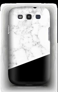 Zwart en Wit Marmer hoesje Galaxy S3