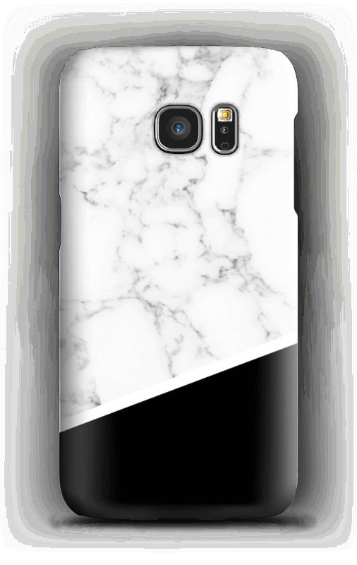 Schwarz - Weiß Handyhülle Galaxy S7