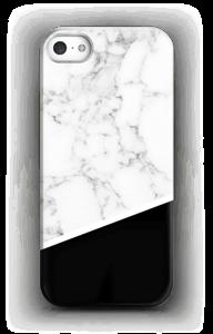 Zwart en Wit Marmer hoesje IPhone SE