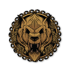 Golden Beast sticker