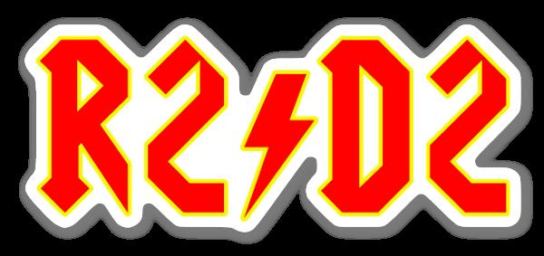 AC/DC x R2-D2 ステッカー