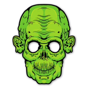 Glowing Eyes - Zombie sticker