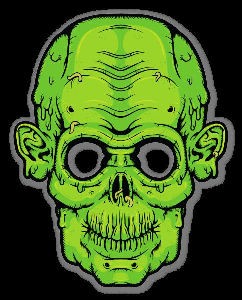 Glowing Eyes - Zombie sticker