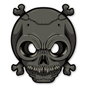 Glowing Eyes - Skull sticker