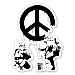 Banksy Troopers sticker