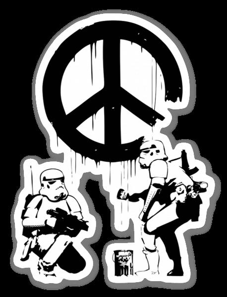 Banksy Troopers pegatina