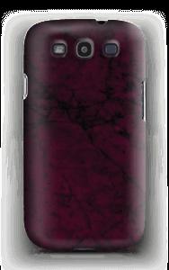 Burgunder marmor deksel Galaxy S3
