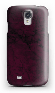 Burgunder marmor deksel Galaxy S4