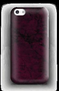 Burgunder marmor deksel IPhone 5c
