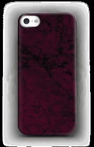 Burgundy marmer hoesje IPhone SE