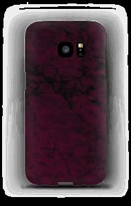 Burgunder marmor deksel Galaxy S7 Edge