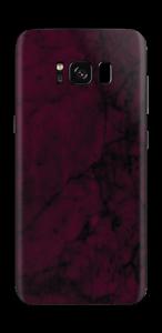 Burgundy Marmor Skin Galaxy S8