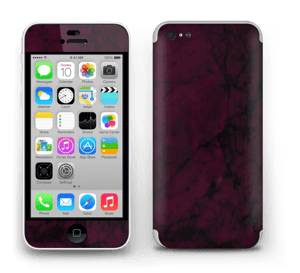 Burgundy marmori tarrakuori IPhone 5c