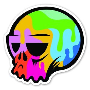 Pop Art Totenkopf sticker