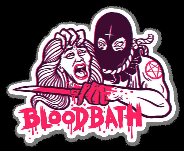 Baño de Sangre pegatina
