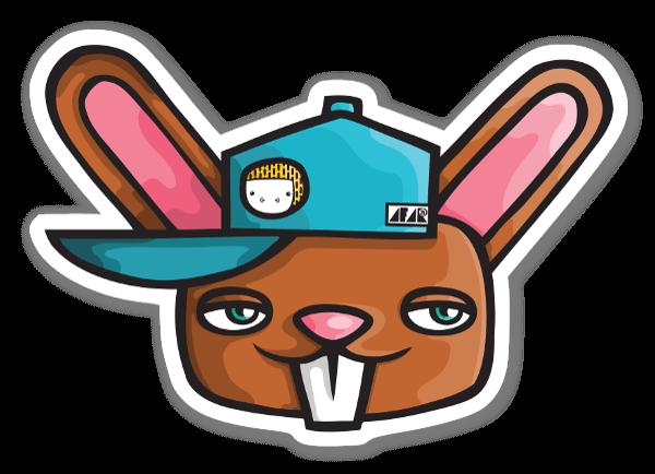 Bunny Steez  sticker