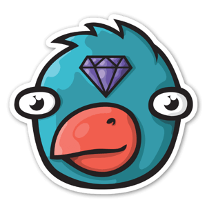 Diamond Bird sticker