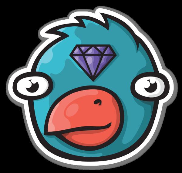 Pájaro Diamante pegatina