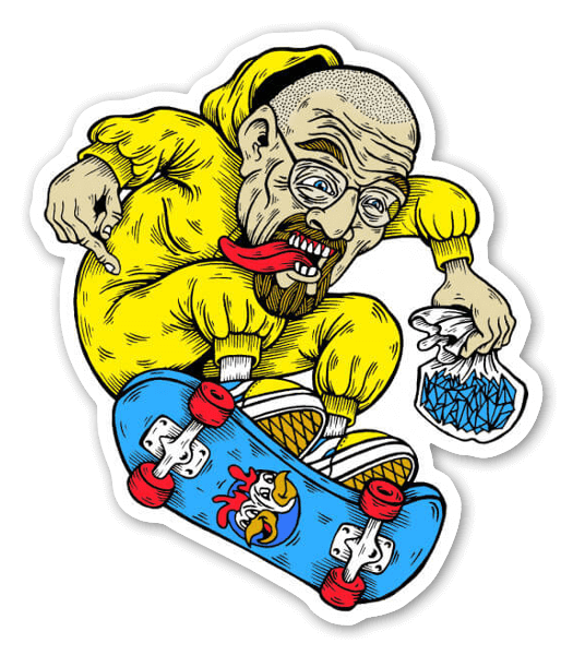 Walter white skate sticker