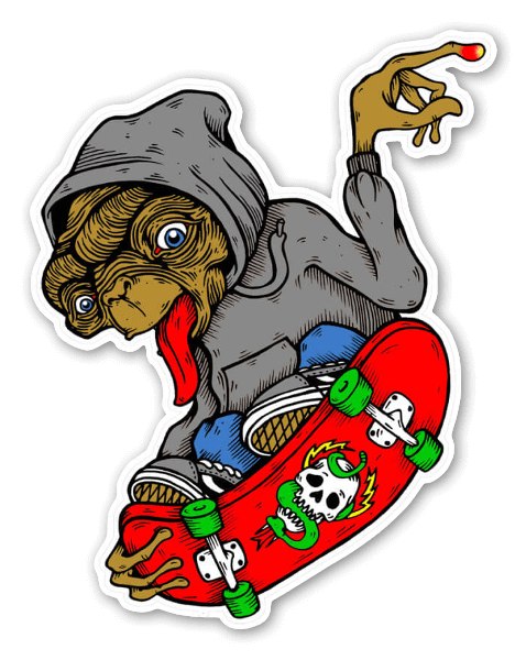 Et skates sticker