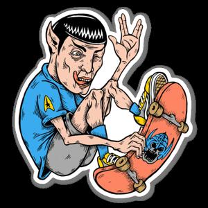 Spock skater sticker