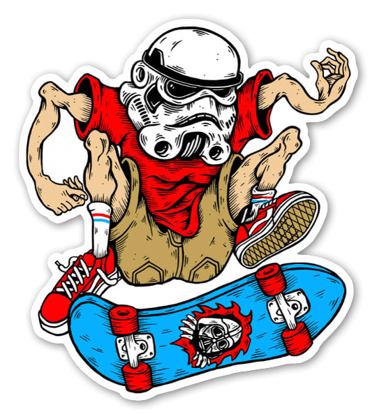 Skate wars sticker