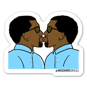 Kanye Kissing Kanye sticker