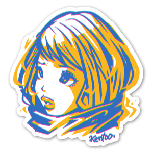 W Girl sticker
