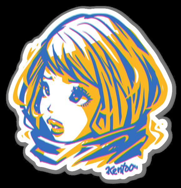 W Girl sticker