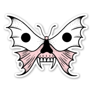 Death butterfly sticker