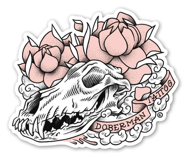 Doberman Tattoo sticker