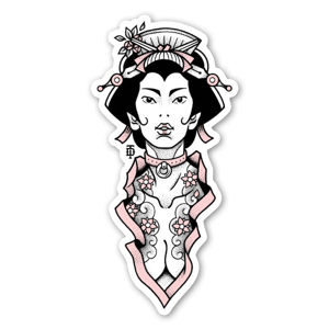 Bondage Geisha sticker