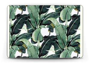 Leaf laptop skin.