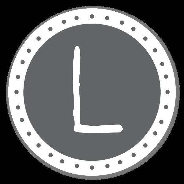 Monograma L pegatina
