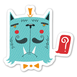 "Cat ""?"" sticker"