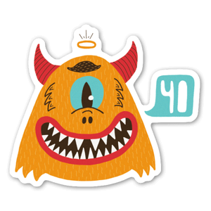 Monster Yo sticker