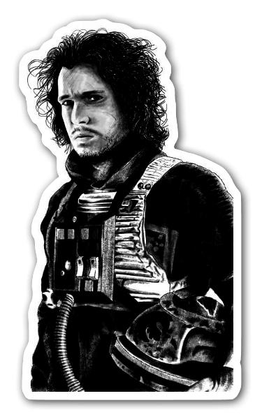 Jon skywalker sticker