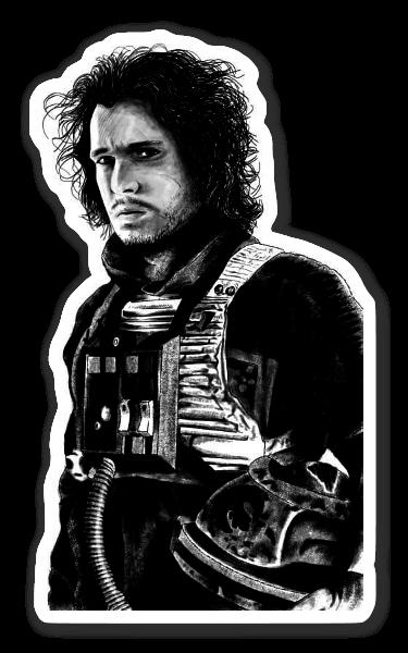Jon Skywalker pegatina