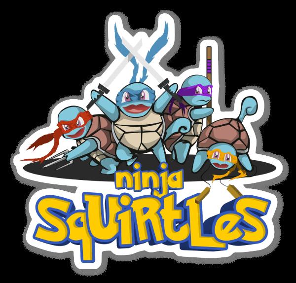 Los Squirtle Ninja pegatina