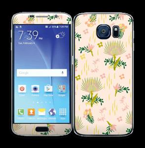 Motif floral Skin Galaxy S6